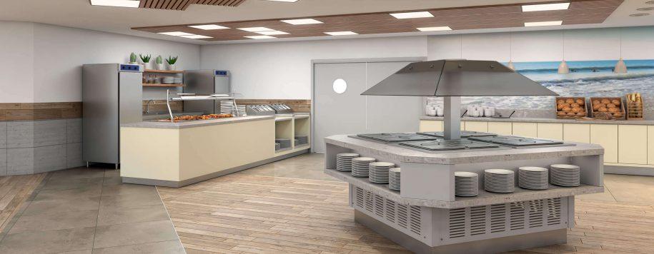תכנון מטבח חדר אוכל כפר גלים